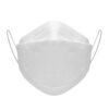 Front of white KN95 face mask